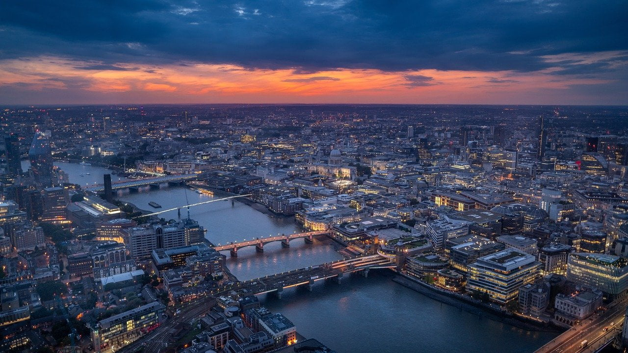 london, sunset, england