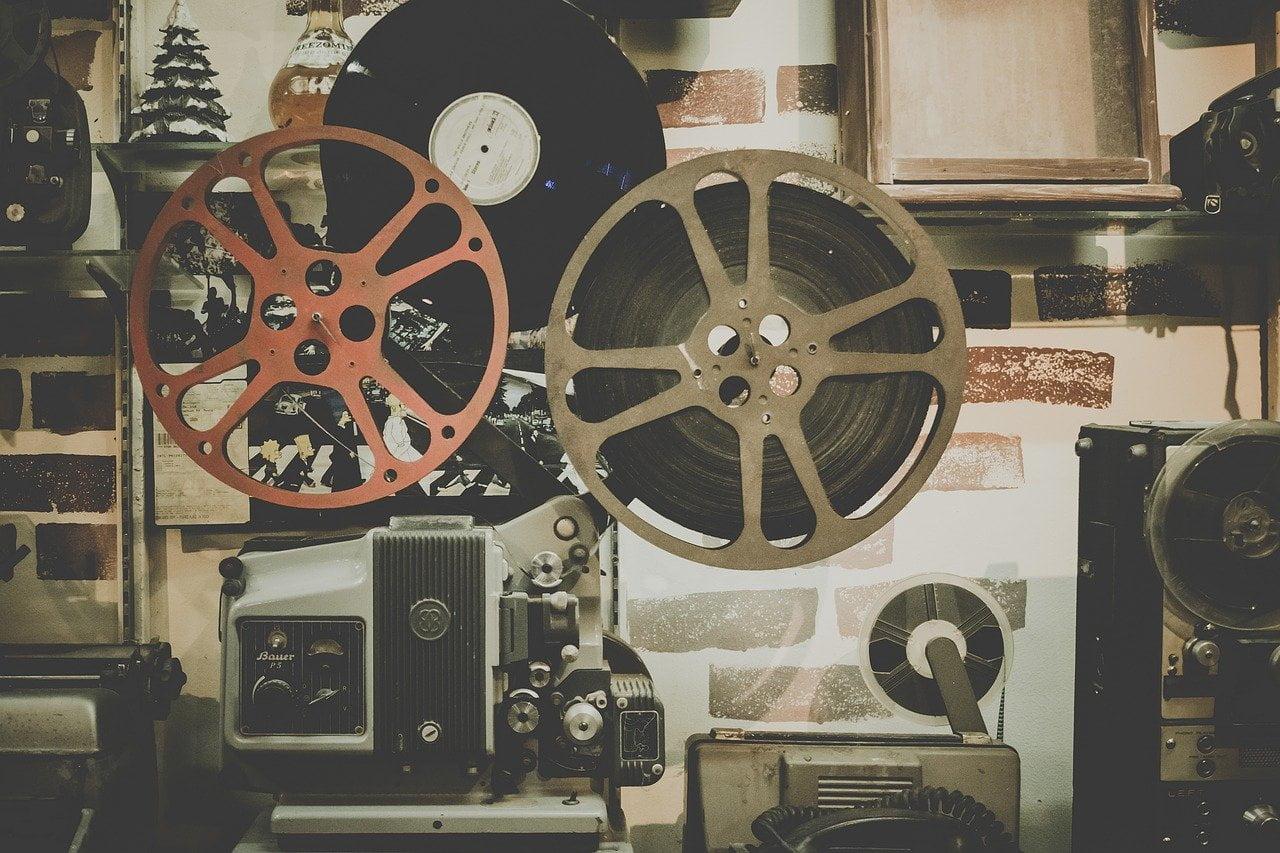 movie, reel, projector