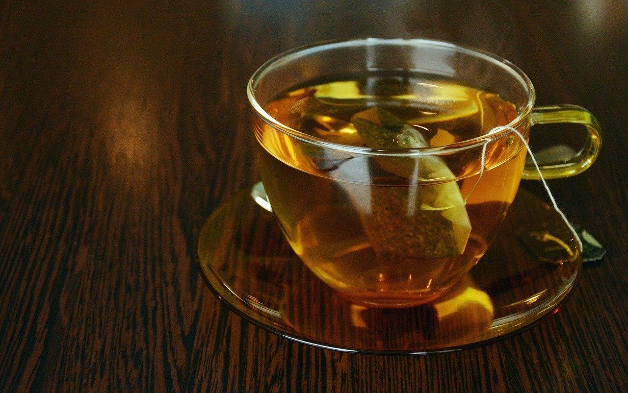 tee, teacup, tea bags